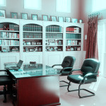 living room-library